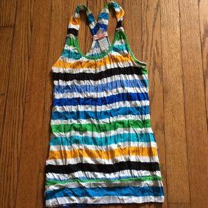 Multicolored striped tank top